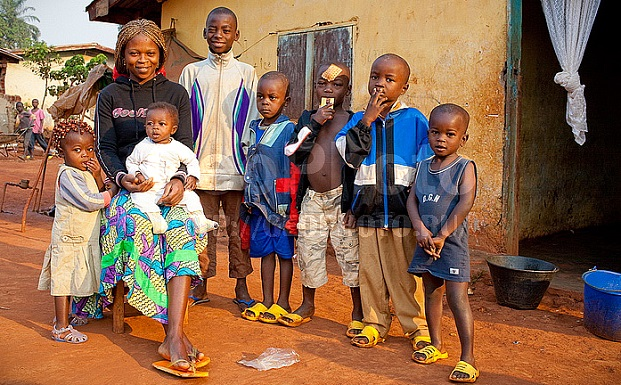 Семья из Ганы